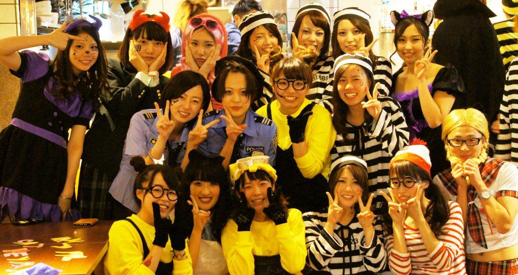 ハロウィン 17卒女子